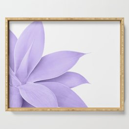 Agave Finesse #9 - Ultra Violet on White #tropical #decor #art #society6 Serving Tray