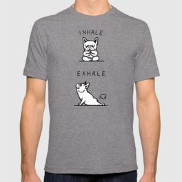 Inhale Exhale French Bulldog T-shirt