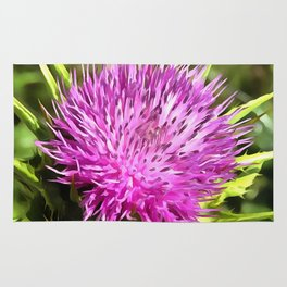 Purple Thistle Wildflower Rug