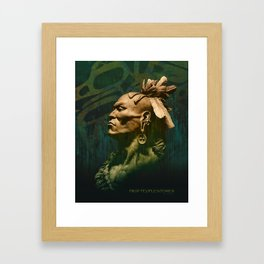 First Peoples Power - woodland indian Framed Art Print
