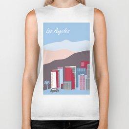 Los Angeles, California - Skyline Illustration by Loose Petals Biker Tank