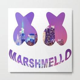 Marshmello in the city Metal Print