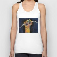 lightning Tank Tops featuring Lightning by Michael Creese