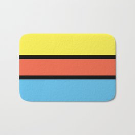 Diversions #1 in Yellow, Orange & Powder Blue Bath Mat