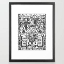 Legend of Zelda - The Three Goddesses of Hyrule Geek Line Artly Framed Art Print
