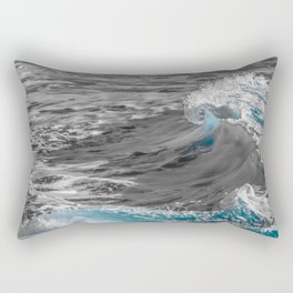 Black and White to Color Wave Rectangular Pillow