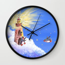 Lighthouse Guides Penguin Home Wall Clock