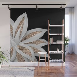 Agave Finesse Glitter Glam #6 #tropical #decor #art #society6 Wall Mural