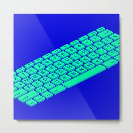 Pixel Keyboard (Unda da Sea) Metal Print