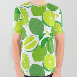 Lime Harvest All Over Graphic Tee