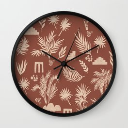 Terracotta desert I Wall Clock