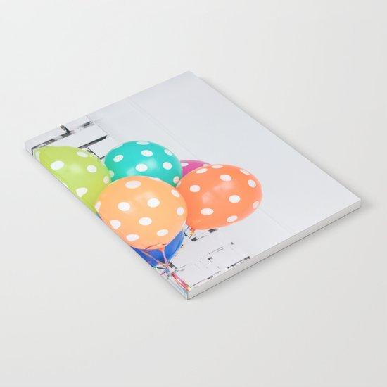 Balloon blue orange yellow green Notebook