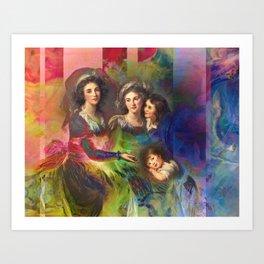 Rainbow Silks Art Print