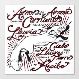 Te Recibo Canvas Print
