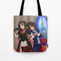 bioshock infinite Tote Bags featuring Bioshock Gender Swapy by Phantasmic Dream