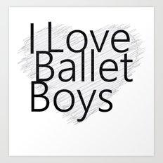 Ballet Boys Art Print