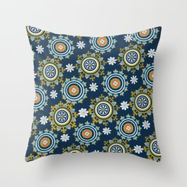 Byzantine Blue One Throw Pillow