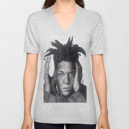 Jean-Michel Basquiat Drawing Unisex V-Neck