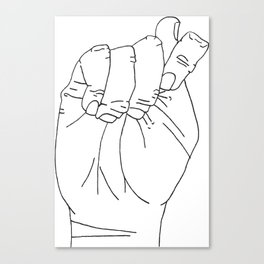 Sign Language T Canvas Print