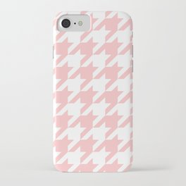Pink Houndstooth iPhone Case