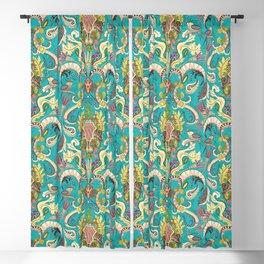 boho rococo turquoise Blackout Curtain