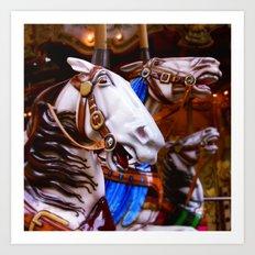 French Carousel Art Print