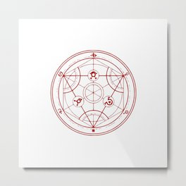Alchemist Circle - Full Metal Metal Print