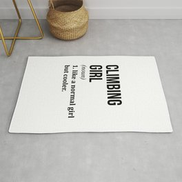 Climbing Girl Funny Quote Rug