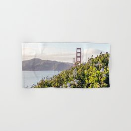 The Golden Gate Bridge in Spring Hand & Bath Towel