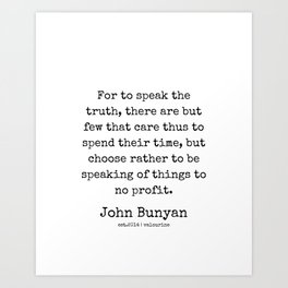 20 | John Bunyan Quotes| 201217 | Writer Of The Pilgrim's Progress' Art Print