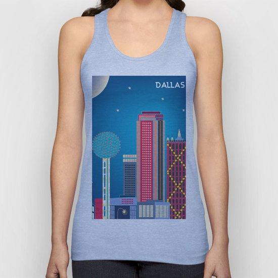 Dallas, Texas - Skyline Illustration by Loose Petals by loosepetals