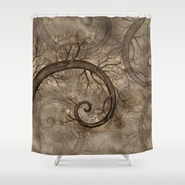 Golden Spiral Tree #2 Shower Curtain