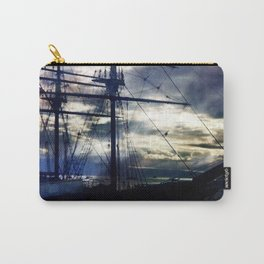 Lahaina Whaling Ship Moonrise Carry-All Pouch