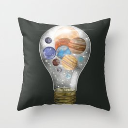 solar power Throw Pillow