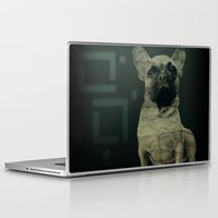 frenchie Laptop & iPad Skins featuring Frenchie by Mi Nu Ra