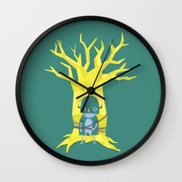 Chained to the Tree Wall Clock