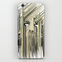 kurt rahn iPhone & iPod Skins featuring Kurt Melting by eyesdrippingink