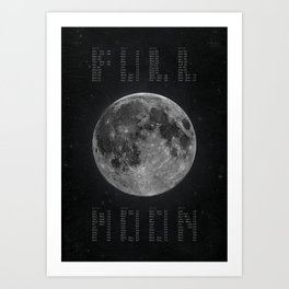 Full Moon Calendar Art Print