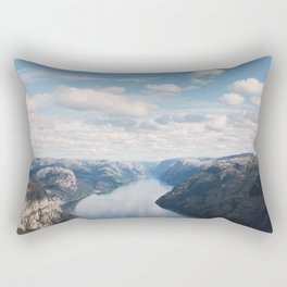 Lysefjorden, Pulpit Rock, Norway Rectangular Pillow