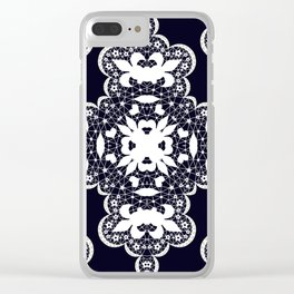 White lace 2 Clear iPhone Case