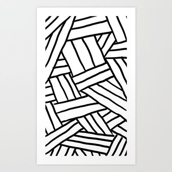Raw Pattern Series: n.1 Art Print