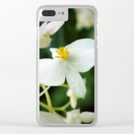Yellow Fingers Clear iPhone Case