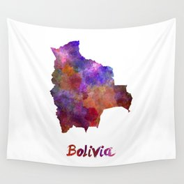 Bolivia in watercolor Wall Tapestry