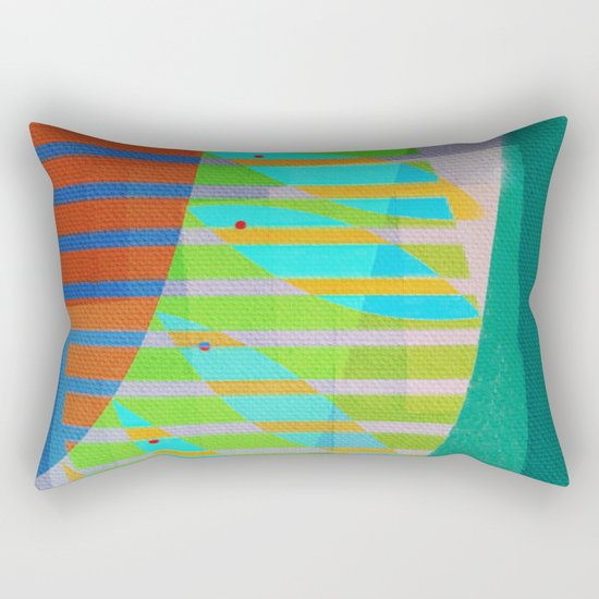A Lama, o Mangue e o Mar (The Mud, the Mangue and the Sea) Rectangular Pillow