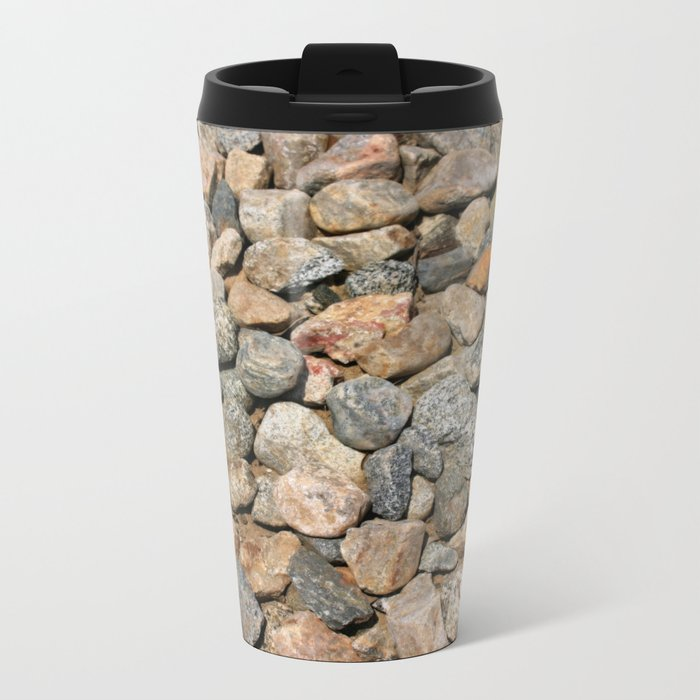 Gravel Stones Metal Travel Mug
