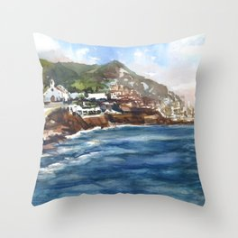 Sitges Beach, Spain Throw Pillow