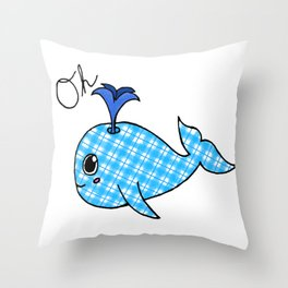 Oh, Whale Throw Pillow