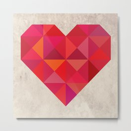 Heart geometry Metal Print