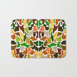 Autumn Camouflage Bath Mat