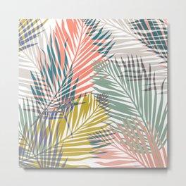 Pop Tropical Botanical Print Metal Print